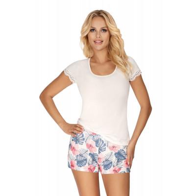 Пижама Mila с тропическим принтом на шортах