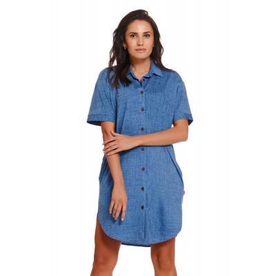 Оригинальное платье-рубашка на пуговках