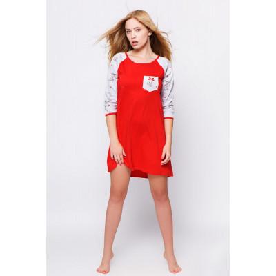 Сорочка Rudolf с рукавами-реглан и ярким принтом