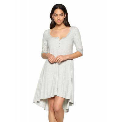 Уютное домашнее платье в рубчик