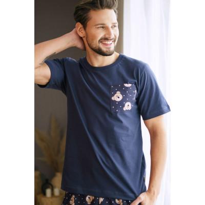 Мужская хлопковая пижама с мишками