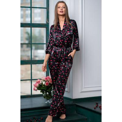 Элегантная пижама с длинными брюками