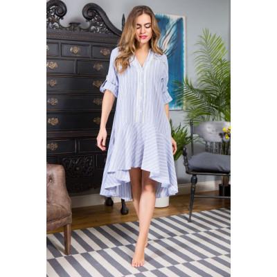 Платье Cindy рубашечного кроя с юбкой асимметричной длины