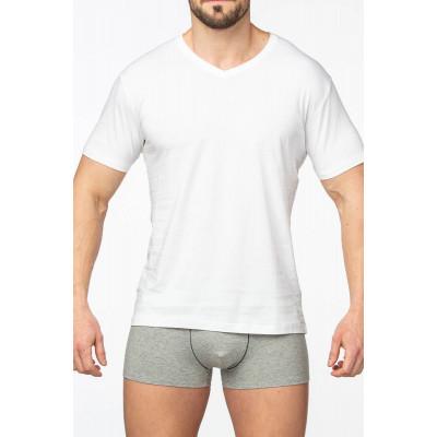 Хлопковая мужская футболка с коротким рукавом