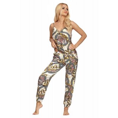 Атласная пижама Donatella с фантазийным узором