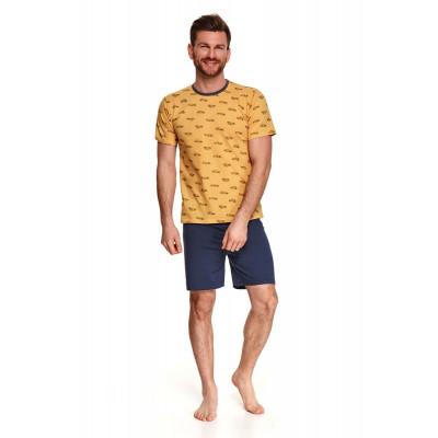 Хлопковая пижама Max с принтом на футболке