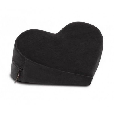 Черная вельветовая подушка для любви Liberator Retail Heart Wedge