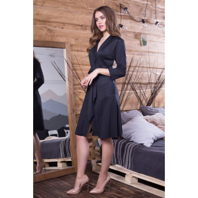 Халатик Elegance Velvet с укороченными рукавами