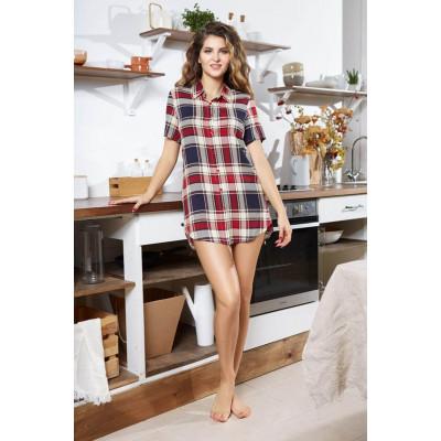 Платье-рубашка Yuna с коротким рукавом